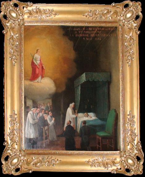 Św. Filomena ukazuje się św. Janowi Vianney